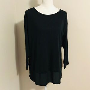 LOFT Mixed Media Tunic Top